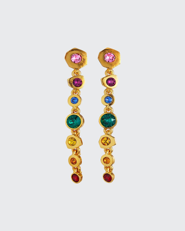 Crystal Multi-Drop Earrings
