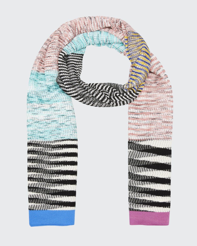 Striped Viscose-Blend Scarf