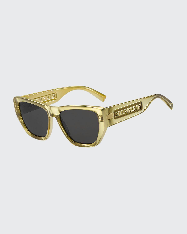 Geometric Injection Plastic Sunglasses