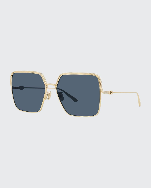 Oversized Square Metal Sunglasses
