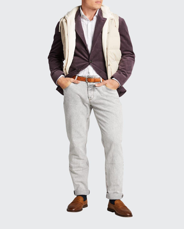 Men's Acid-Wash Traditional-Fit Jeans