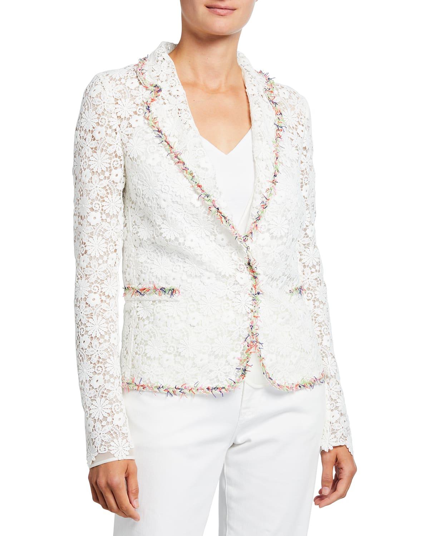Floral Macrame Jacket