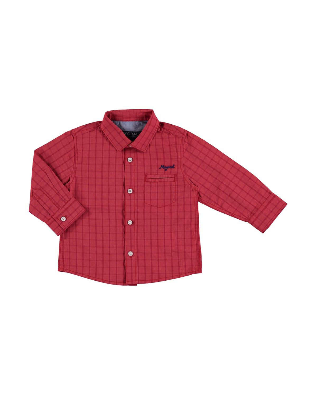 Long-Sleeve Gingham Poplin Shirt