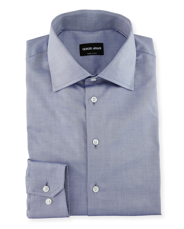 Men's Light Blue Basic Dress Shirt
