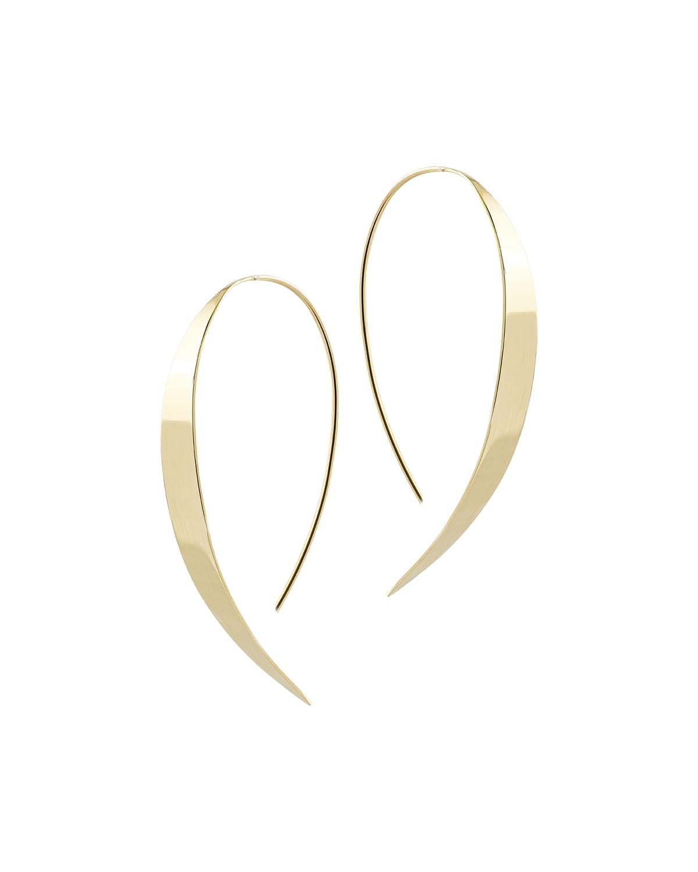 Bond Small Vanity Hooked on Hoop Earrings in 14K Gold