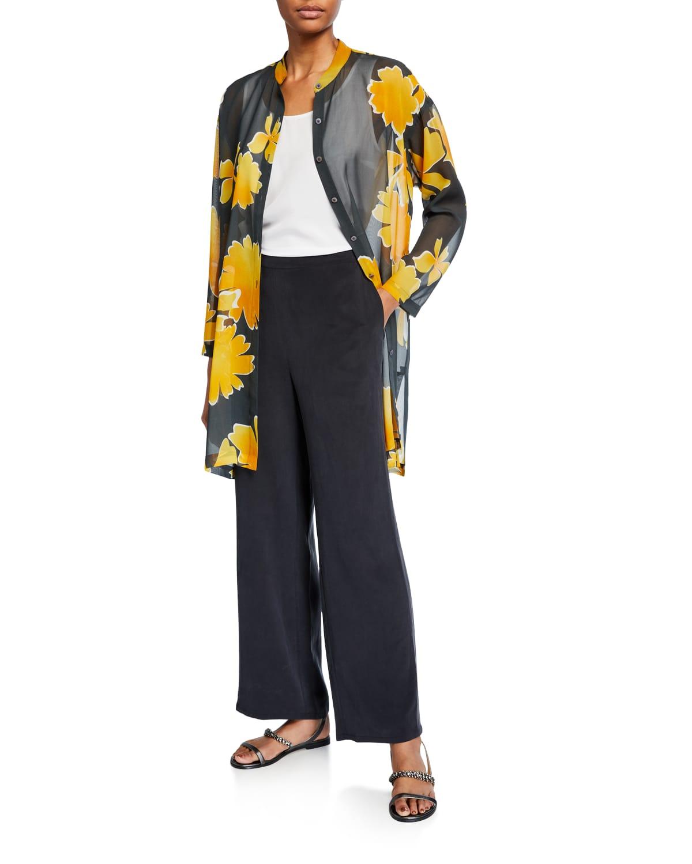 Floral Silk Georgette Tunic