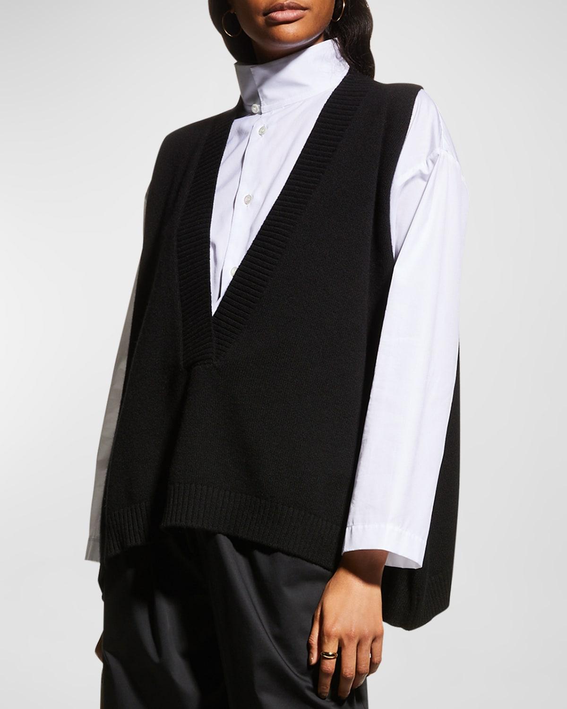 Deep-V Cashmere Vest