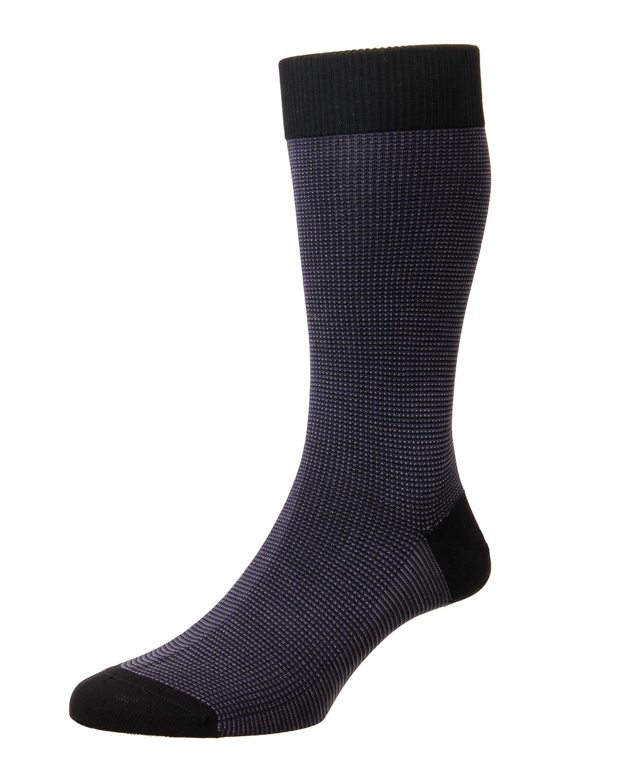 Mid-Calf Birdseye Ankle Socks
