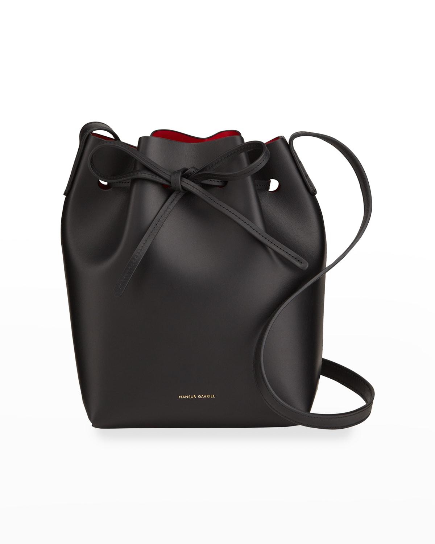 Mini Vegetable-Tanned Leather Bucket Bag