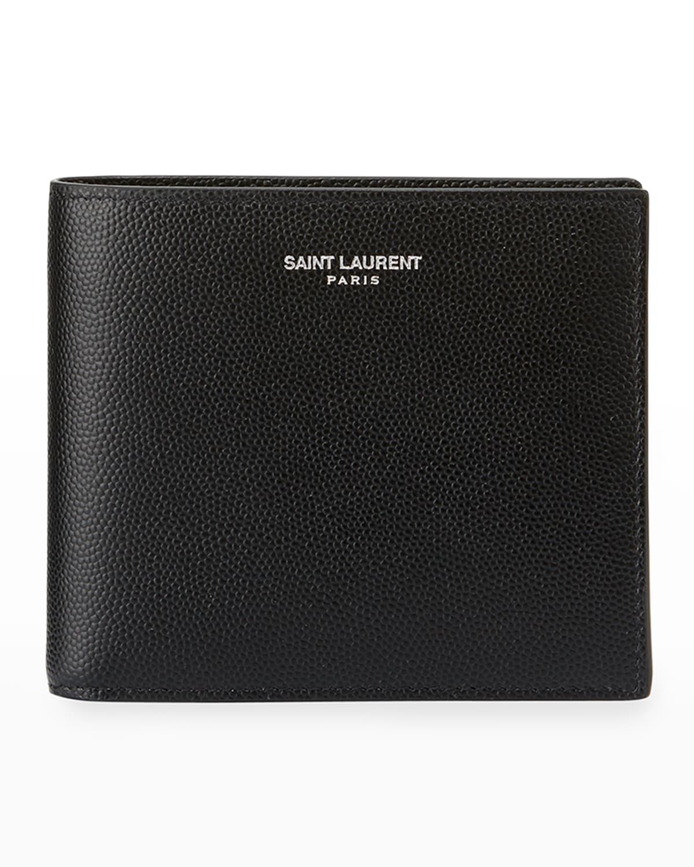 East-West Calfskin Leather Wallet