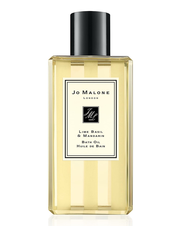 8.5 oz. Lime Basil & Mandarin Bath Oil