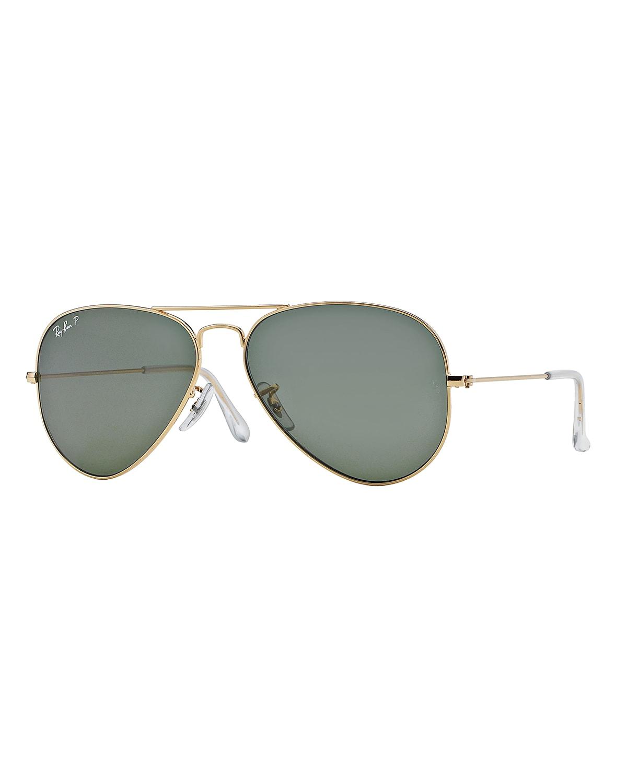 Metal Polarized Aviator Sunglasses