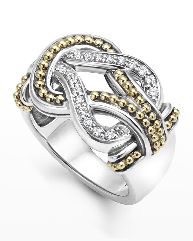 Large Newport Diamond Knot Ring
