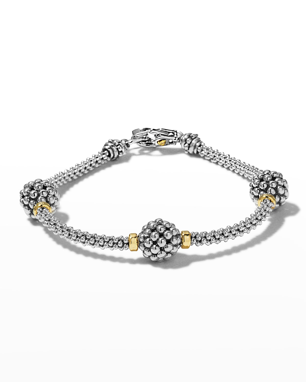 10mm Caviar Ball Station Bracelet