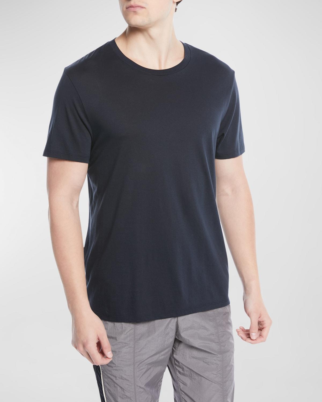 Men's Short-Sleeve Pima Crewneck Jersey T-Shirt, Black