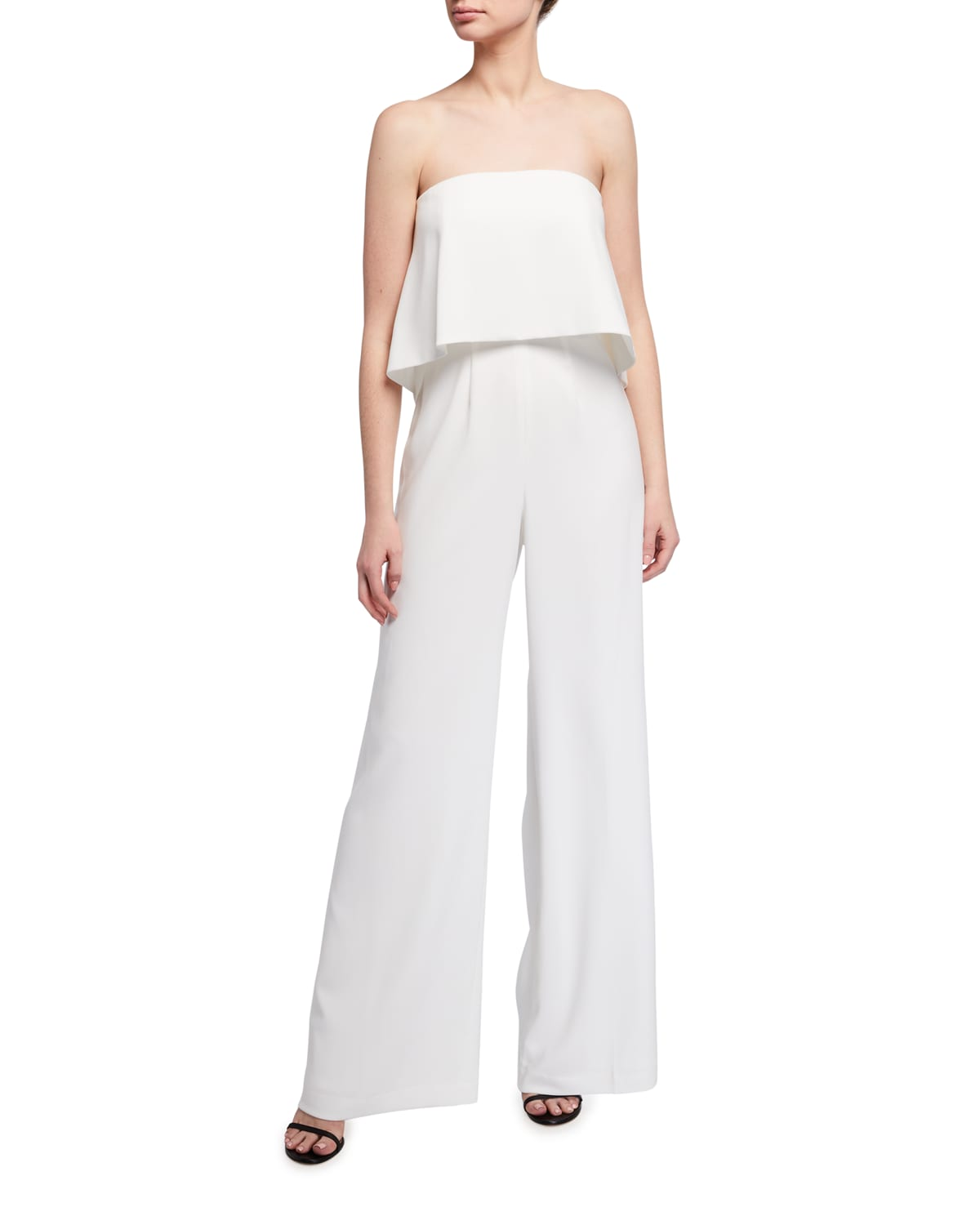 Moore Strapless Popover Bodice Stretch Crepe Jumpsuit