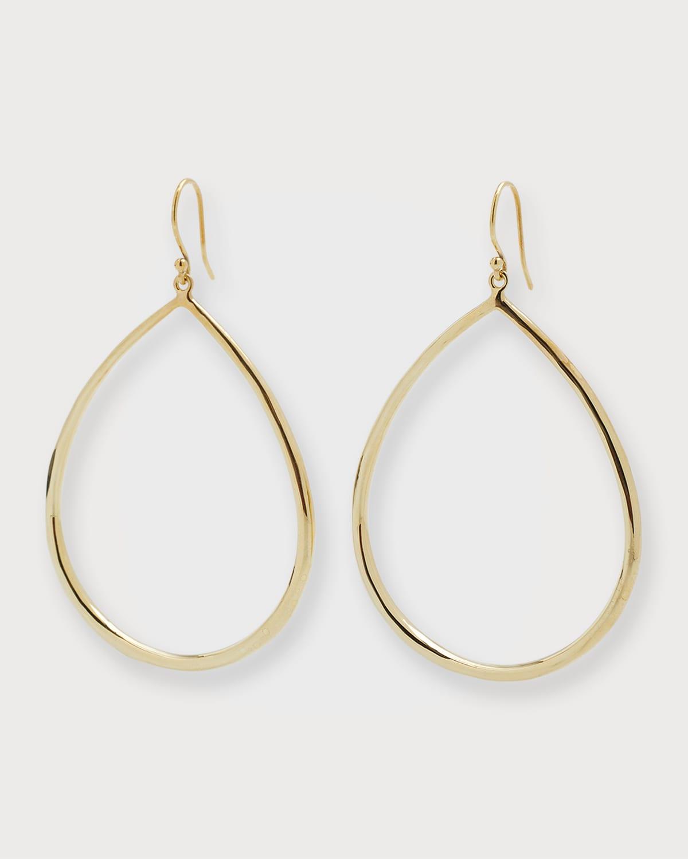 Wire Teardrop Hoop Earrings