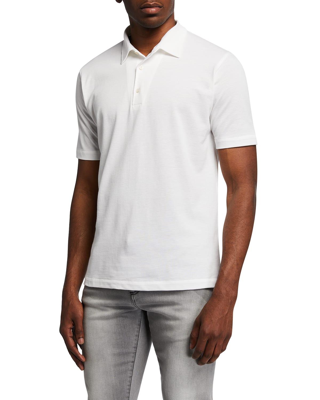 Washed Pique Polo Shirt