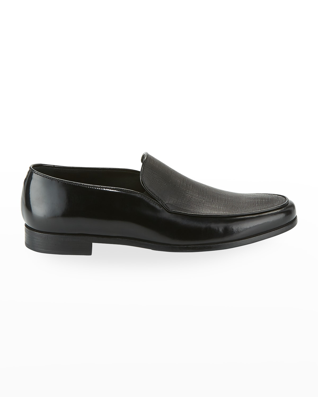 Saffiano Leather Venetian Loafer