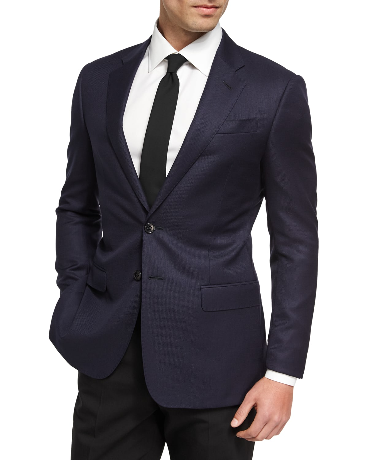 Soft Basic Wool Two-Button Sport Coat