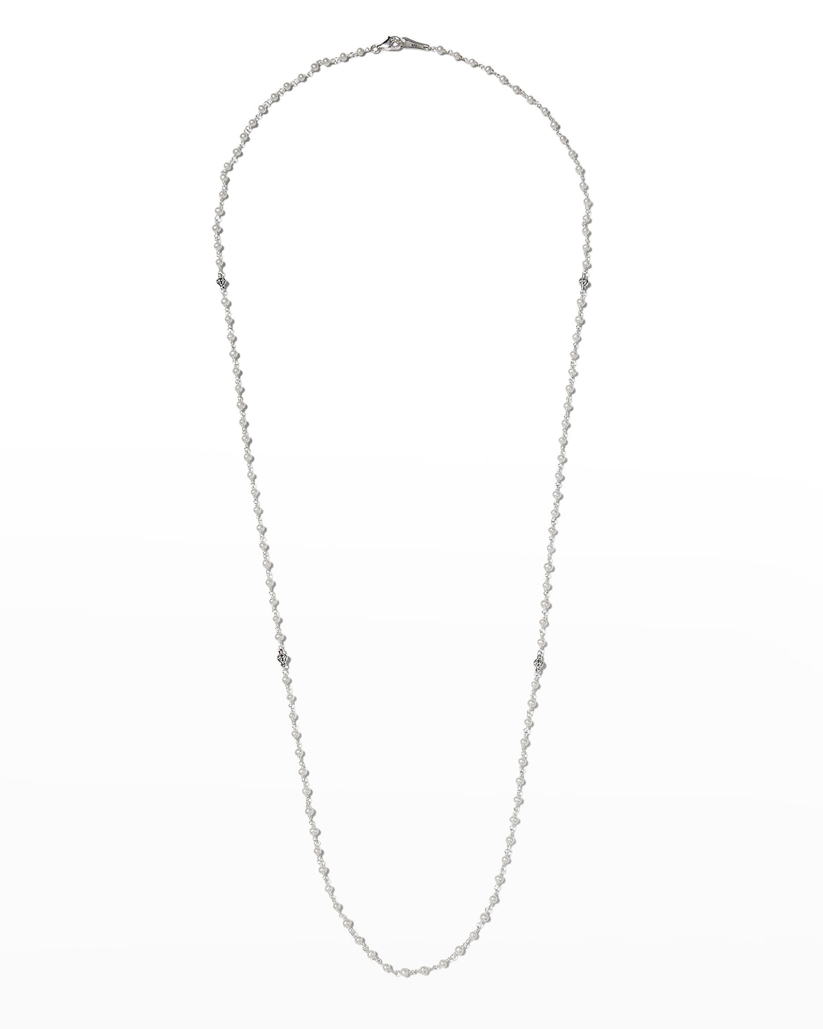 Luna Pearl Necklace with Sterling Silver