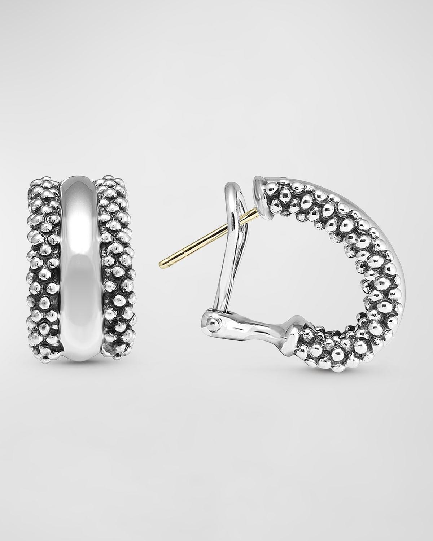 Signature Caviar Huggie Earrings