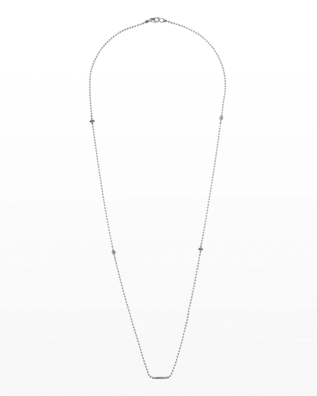 Icon Caviar Ball Chain Necklace