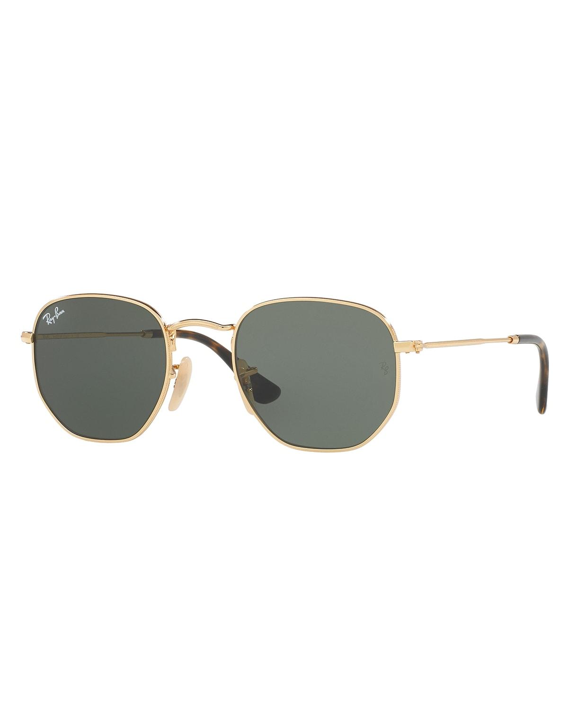 Men's Hexagonal Metal Sunglasses