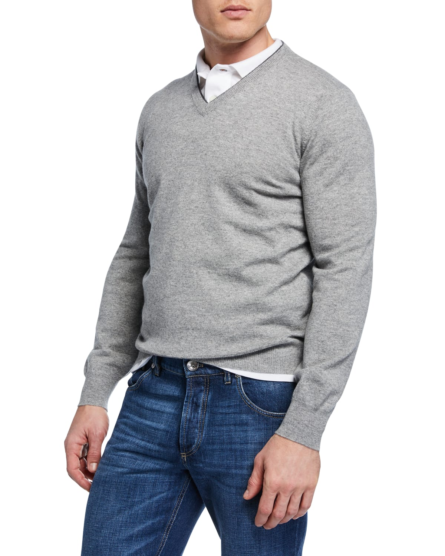 Cashmere V-Neck Pullover Sweater