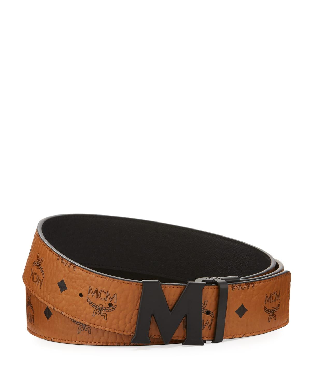 Visetos Reversible Matte-Buckle Belt
