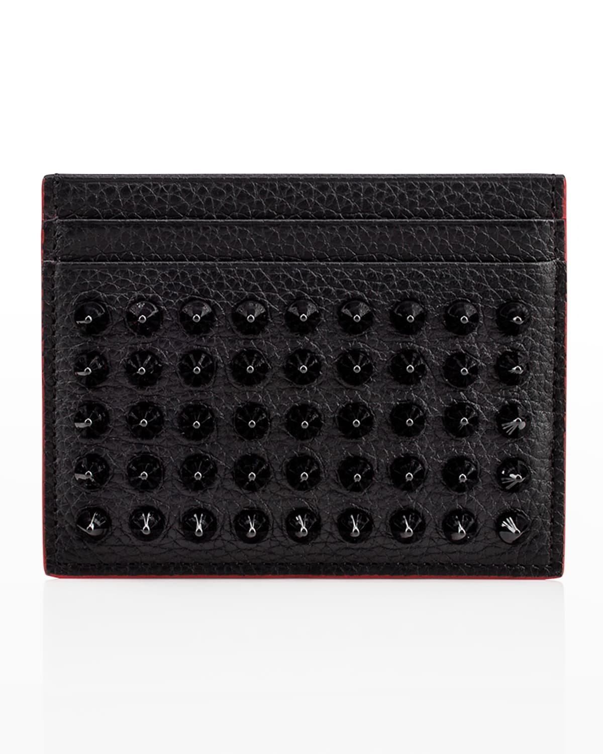 Men's Kios Spiked Leather Card Case