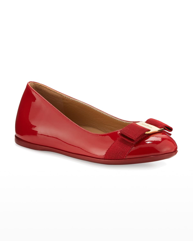 Varina Mini Patent Leather Ballet Flats