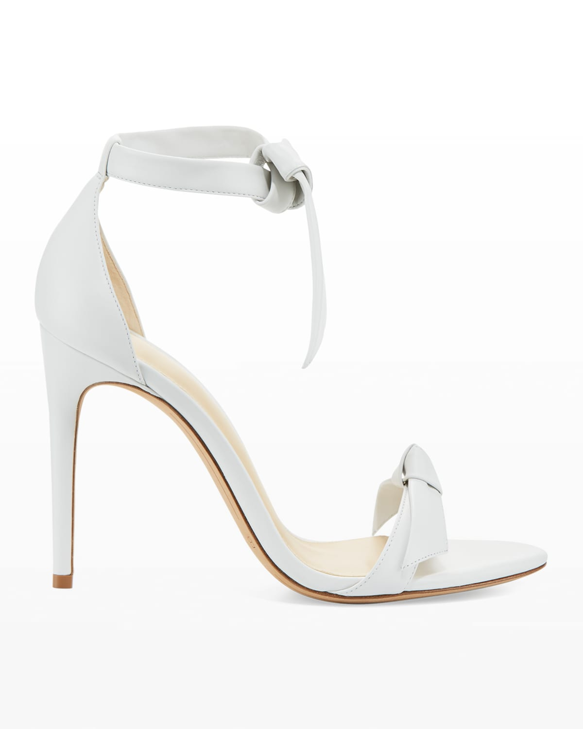 Clarita Knotted Leather High-Heel Sandals