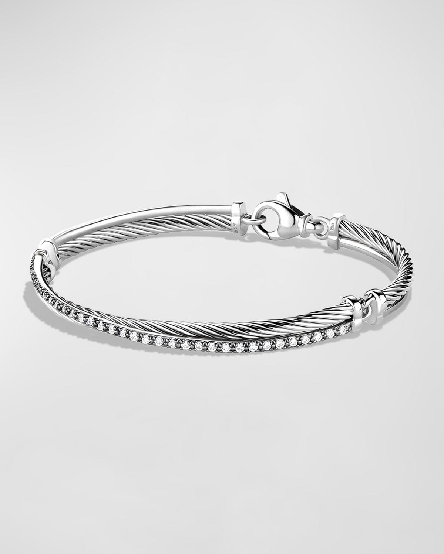 Crossover Bracelet with Diamonds
