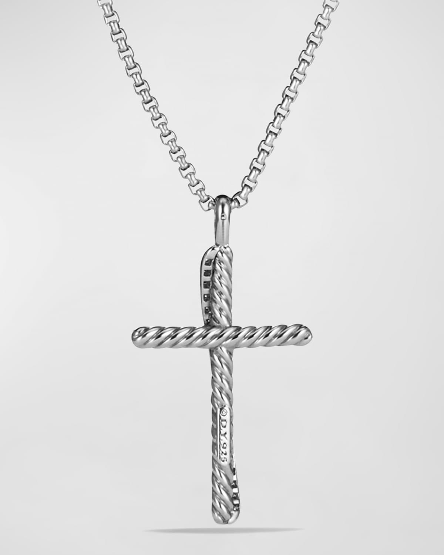 Cross Crossover Diamond Pendant Necklace