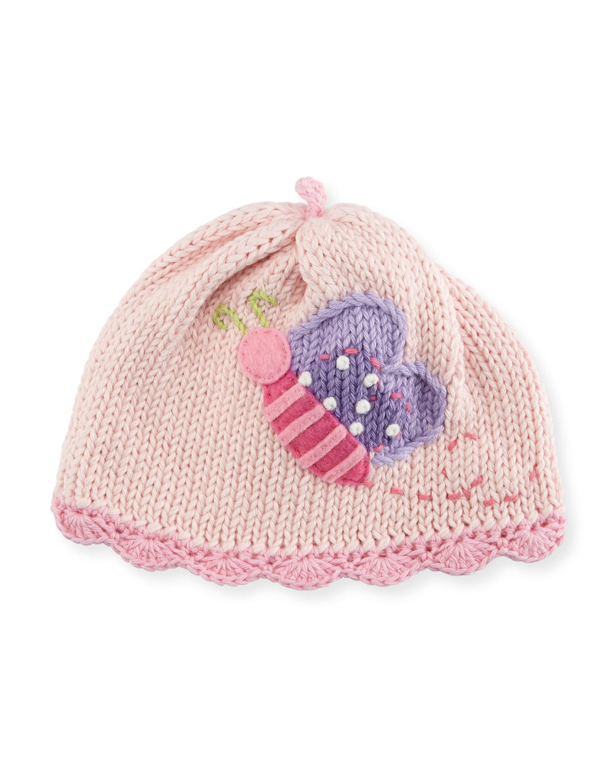 Butterfly Knit Baby Hat