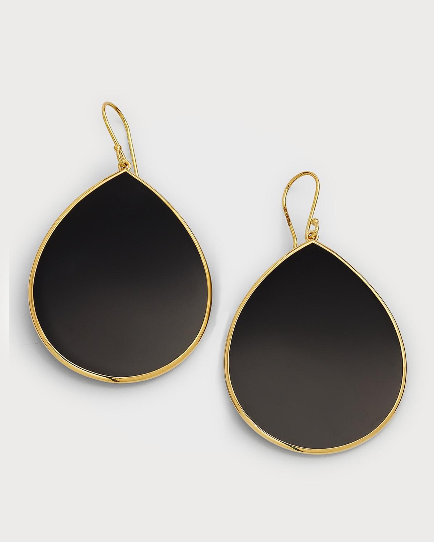 18k Polished Rock Candy Teardrop Earrings