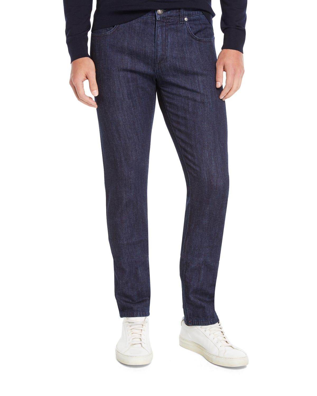 Men's Dark Wash Straight-Leg Jeans