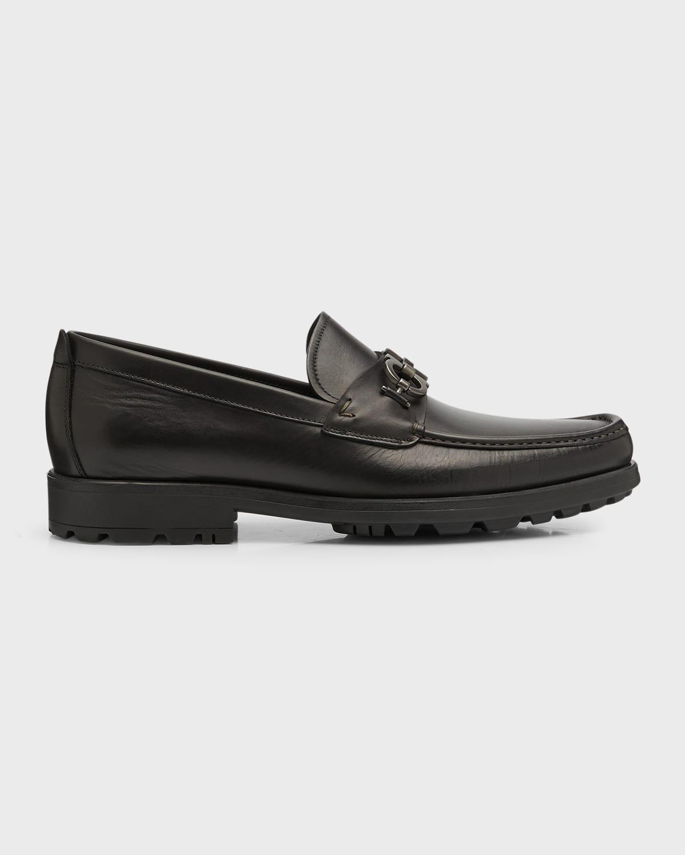 Men's Leather Lug-Sole Loafer