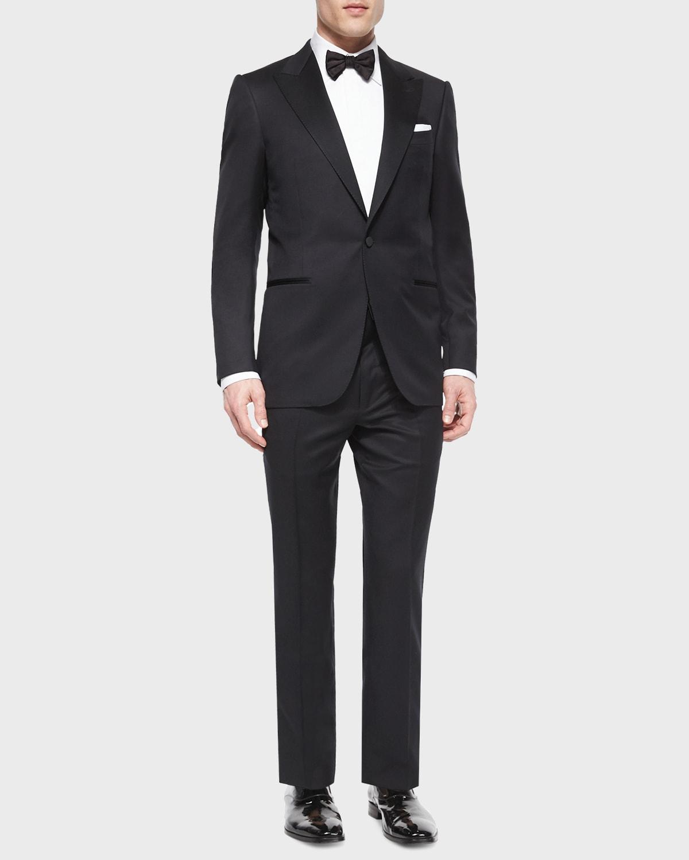 Peak-Lapel One-Button Wool Tuxedo