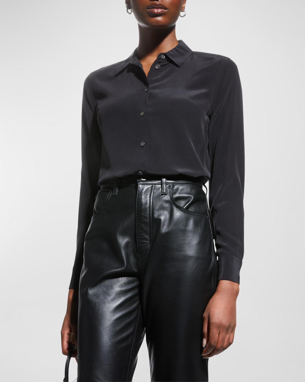 Essential Long-Sleeve Silk Shirt
