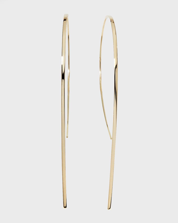 Small Flat Hook-On Hoop Earrings