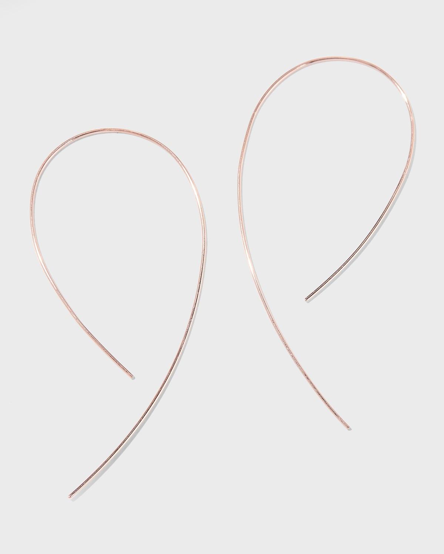 Yellow Gold Hook-On Hoop Earrings