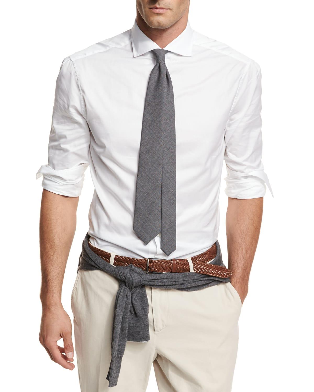 Men's Button-Down Slim-Spread Collar Shirt