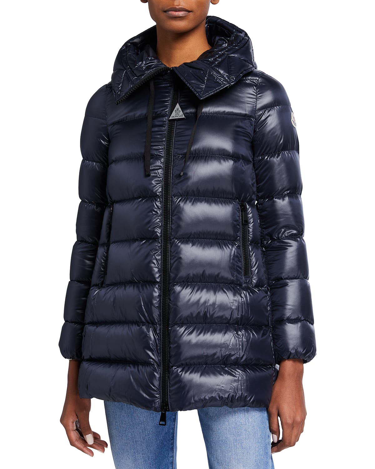 Suyen Down Quilted Nylon Hooded Parka