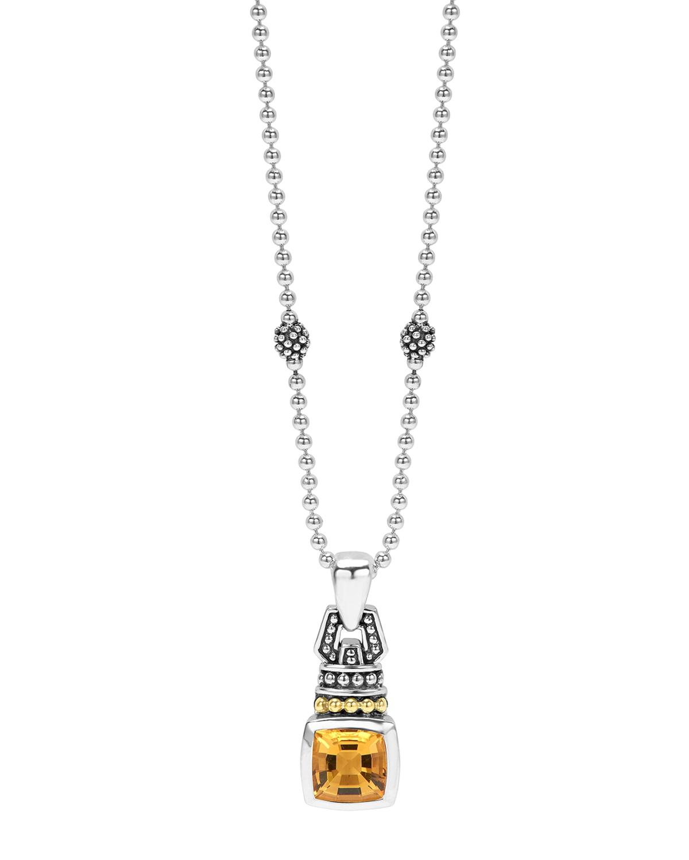 Caviar Color 7mm Pendant Necklace