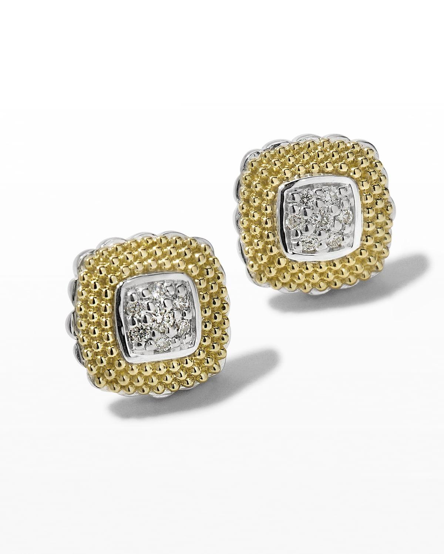 11mm Diamond Lux Stud Earrings