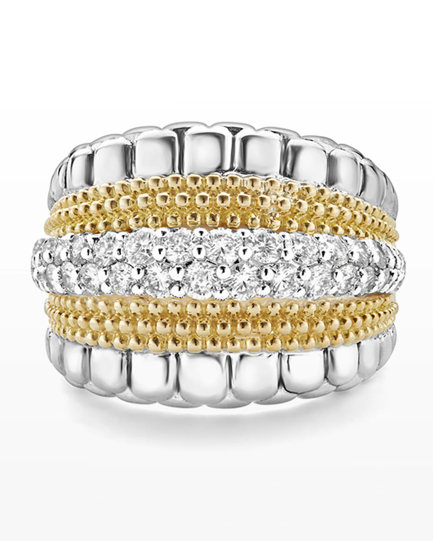 Lux Medium Band Ring with Diamonds