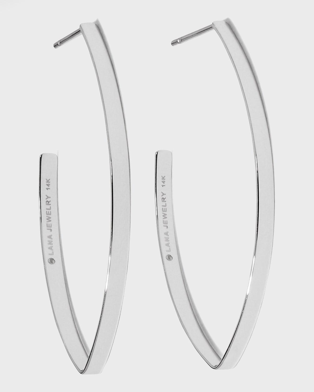 Small Flat Blake Hoop Earrings