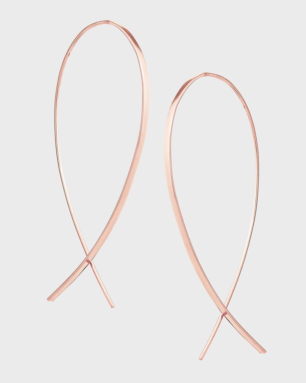 Small Wide Upside Down Hoop Earrings